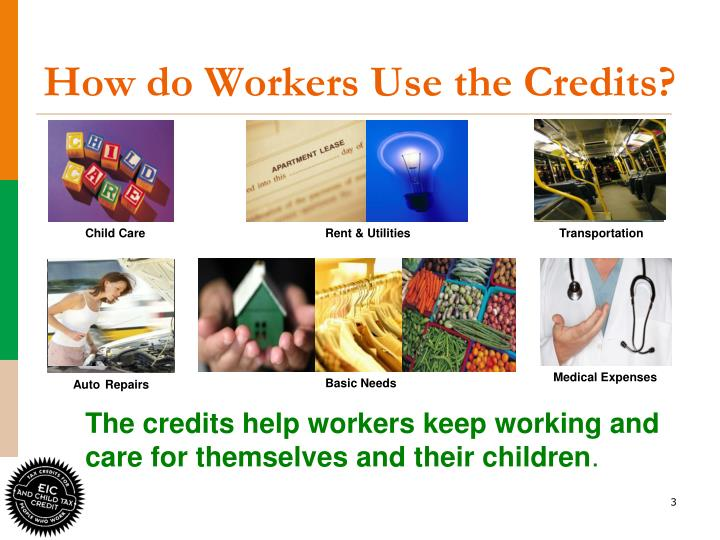 How do workers use the credits