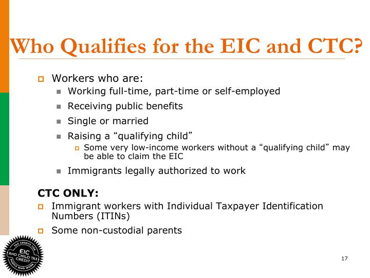 Who Qualifies for the EIC and CTC?