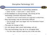 disruptive technology 101