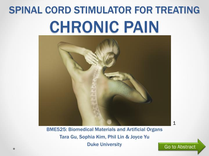 spinal cord stimulator for treating chronic pain n.