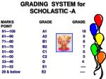 grading system for scholastic a