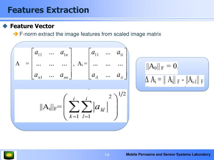 Features Extraction