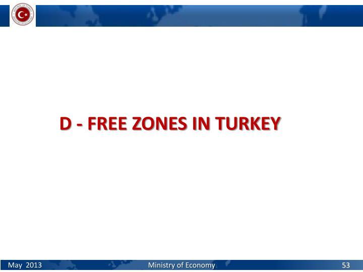 D - FREE ZONES IN TURKEY