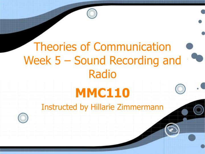 theories of communication Communication theory framework let us examine communication and communication theory through the following viewpoints: mechanistic - the mechanistic view point says that communication is simply the transmission of information from the first party to the second party.