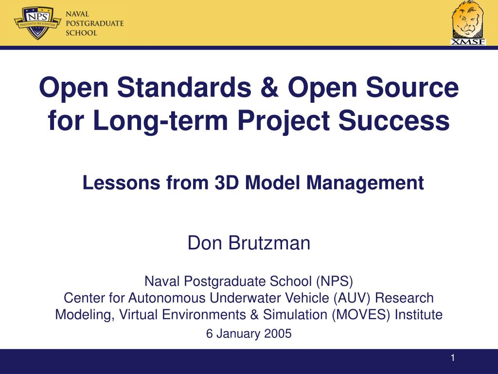 PPT - Open Standards & Open Source for Long-term Project