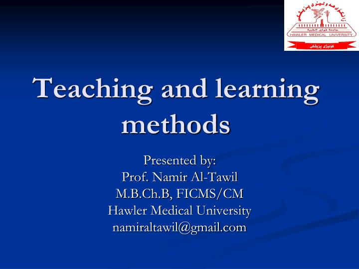 teaching and learning methods n.