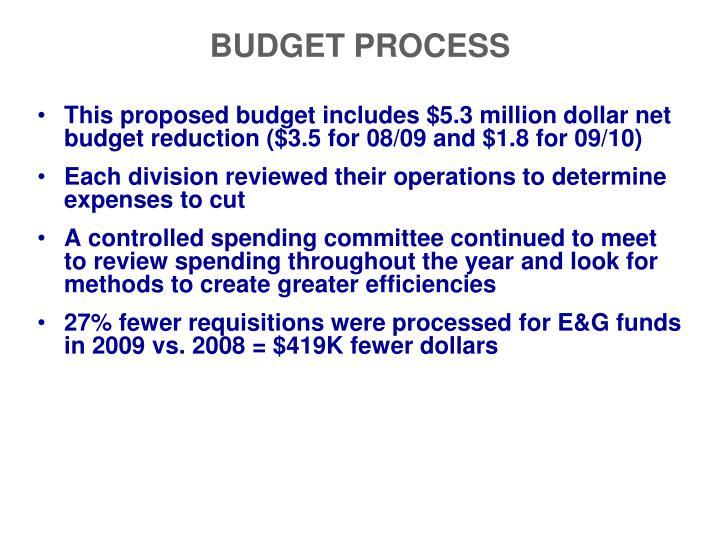 Budget process