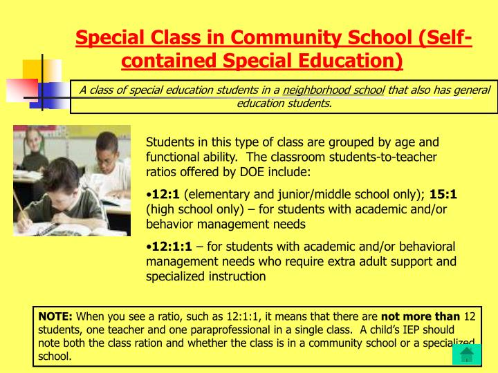 Special Class in Community School (Self-contained Special Education)