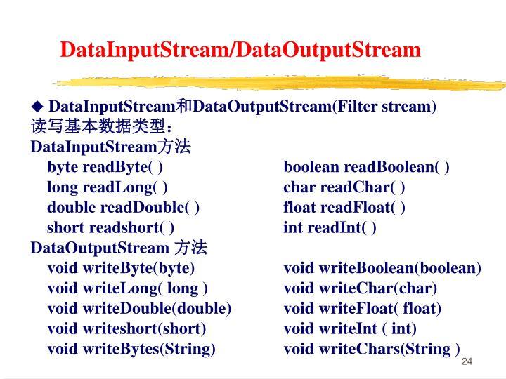 DataInputStream/DataOutputStream