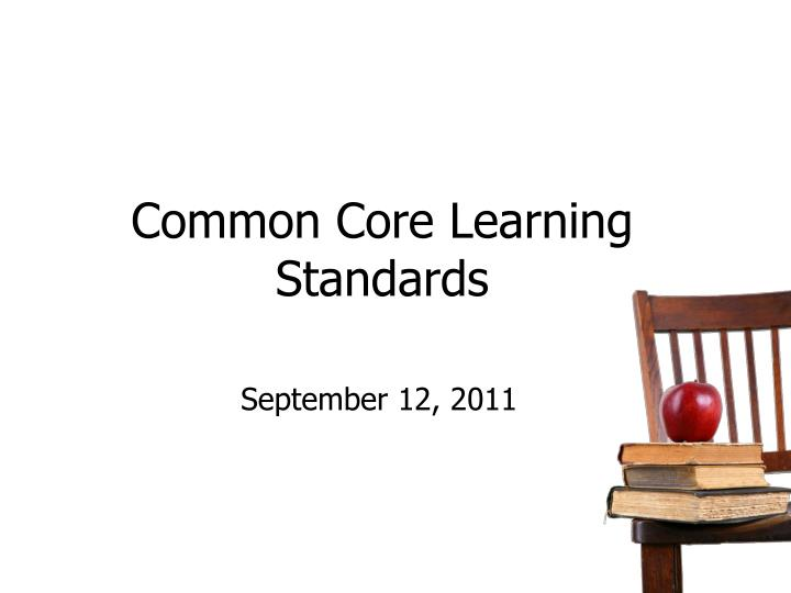 common core learning standards n.