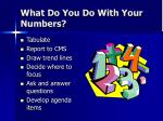 what do you do with your numbers1