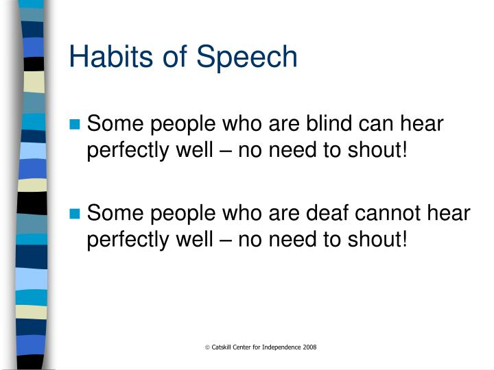 Habits of Speech