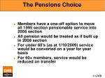 the pensions choice