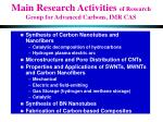 main research activities of research group for advanced carbons imr cas