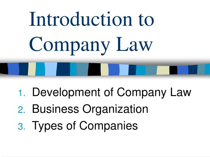 introduction to company law n.