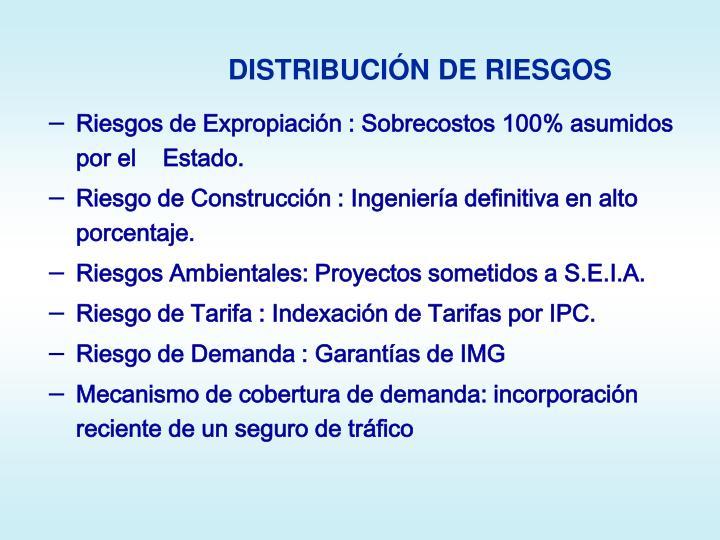 DISTRIBUCIÓN DE RIESGOS