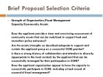 brief proposal selection criteria5