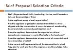 brief proposal selection criteria6