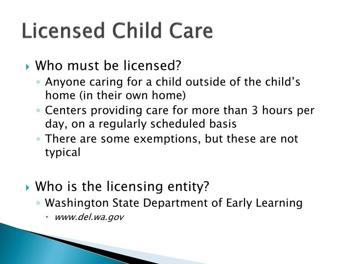 Licensed Child Care