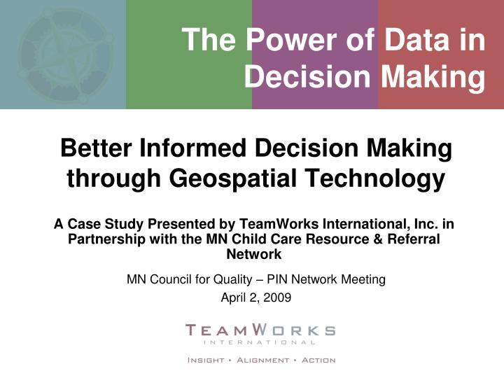 the power of data in decision making n.