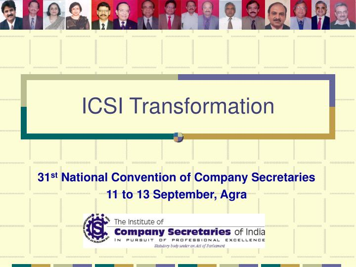 31 st national convention of company secretaries 11 to 13 september agra n.