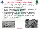 historical context sedan 1940