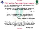 risk and the operational commander