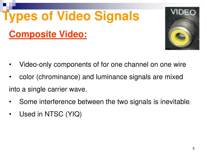 Types of Video Signals