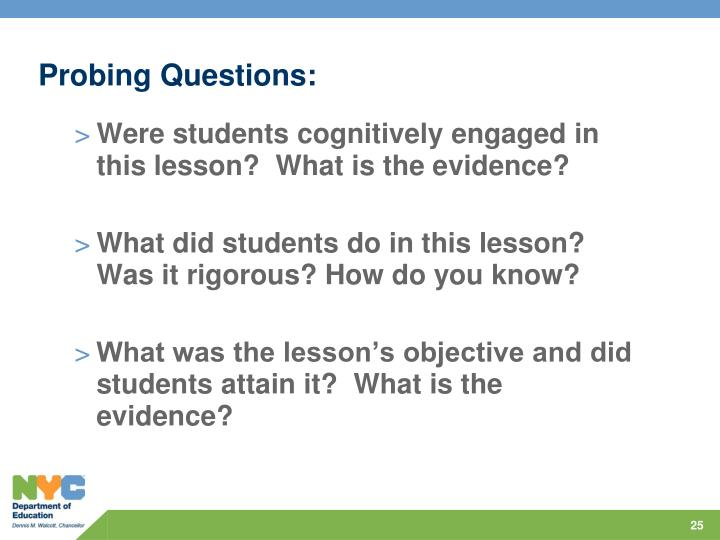Probing Questions: