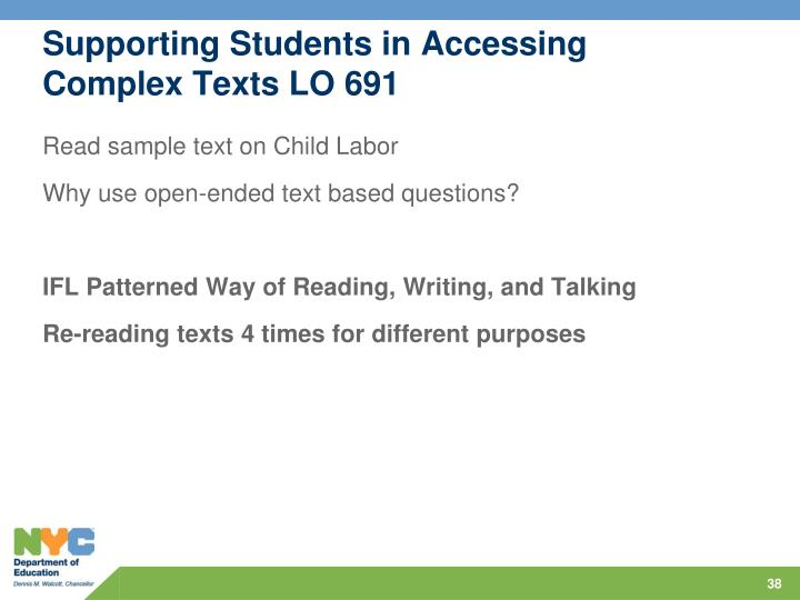 Supporting Students in Accessing Complex