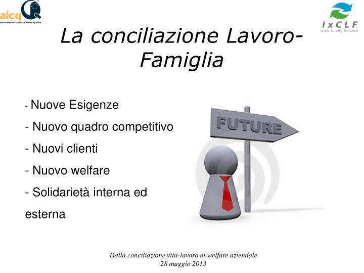 La conciliazione Lavoro-Famiglia