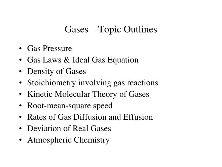 gases topic outlines n.