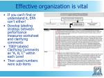 effective organization is vital