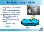include partner projects