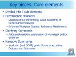 key pieces core elements
