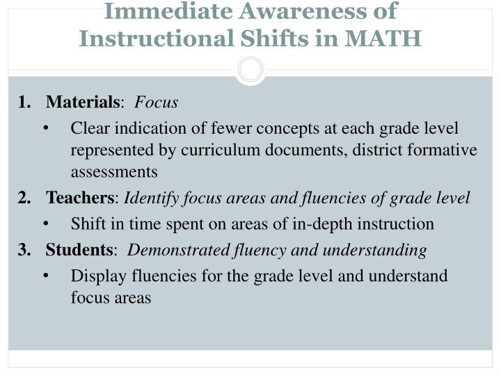 Immediate Awareness of
