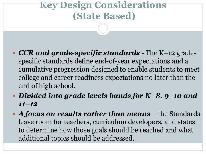 Key Design Considerations