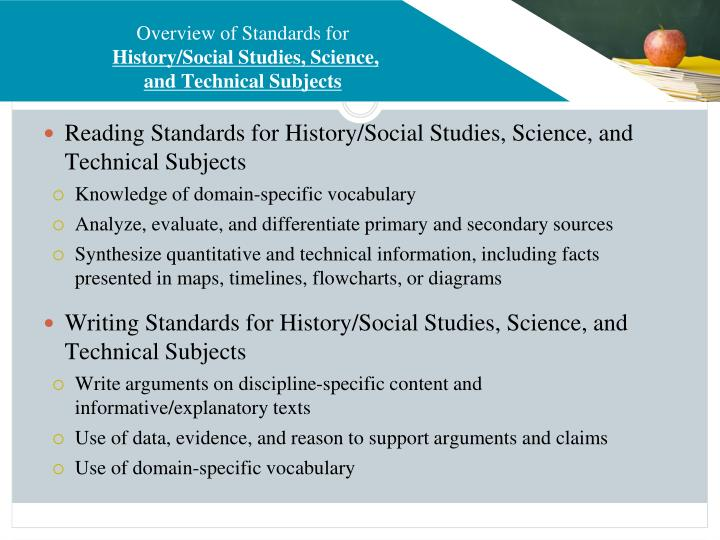 Overview of Standards for