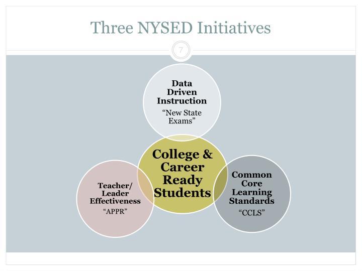 Three NYSED Initiatives