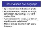 observations on language
