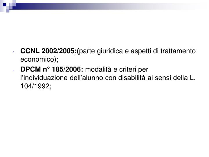 CCNL 2002/2005;(