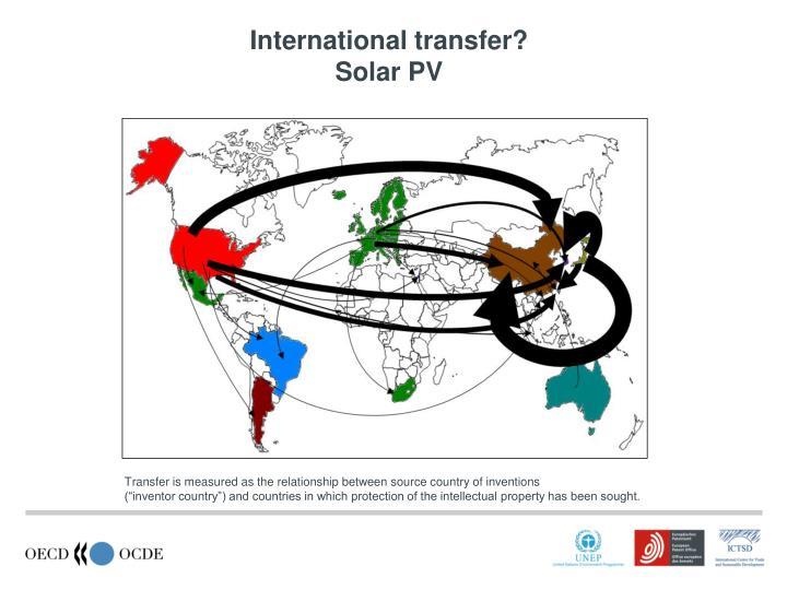 International transfer?