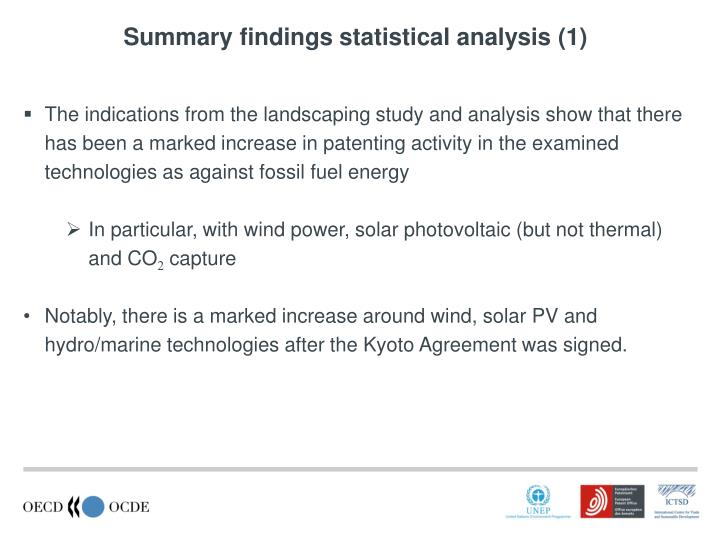 Summary findings statistical analysis (1)