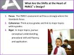 what are the shifts at the heart of parcc s design
