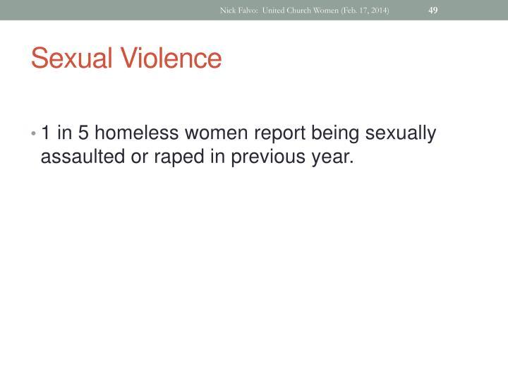 Nick Falvo:  United Church Women (Feb. 17, 2014)