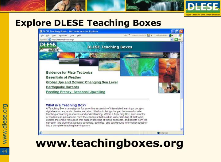 Explore DLESE Teaching Boxes
