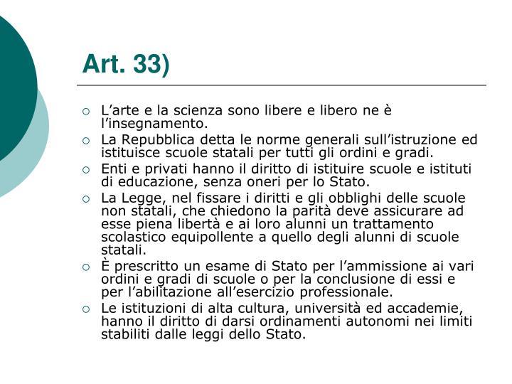 Art. 33)