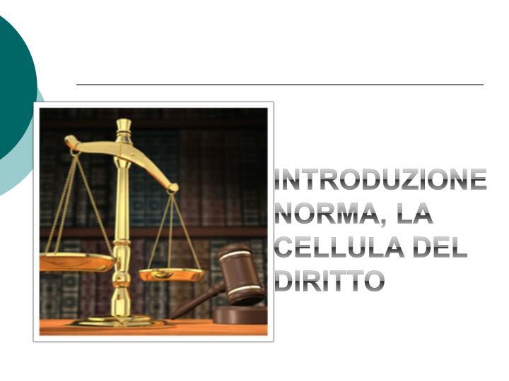 Introduzione norma la cellula del diritto