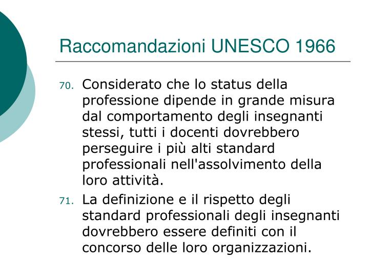 Raccomandazioni UNESCO 1966
