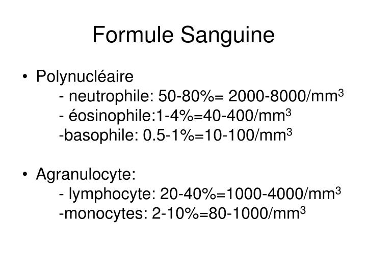 Formule Sanguine